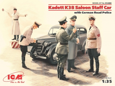 1/35 Kadett K38 Saloon Staff Car with German Road Police +5 fig.